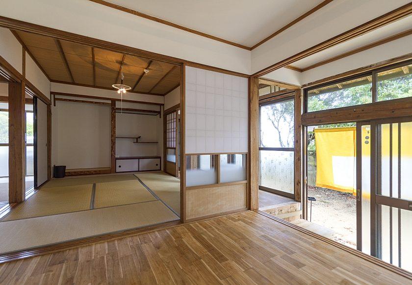 伊仙町にある古民家をリノベーション 伝泊「海みるテラスの宿 ...